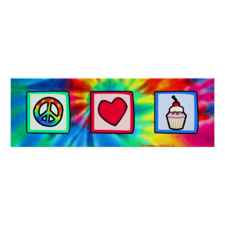 Peace, Love, Cupcakes Poster