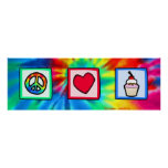 Peace, Love, Cupcakes Print