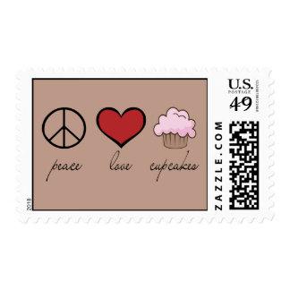 Peace Love Cupcakes Stamp