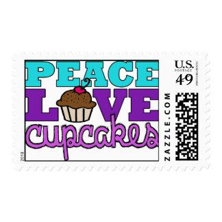 Peace, Love & Cupcakes! Stamp