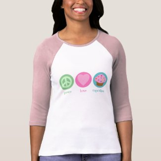 Peace, Love & Cupcakes T-Shirt shirt