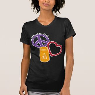 Peace-Love-Cups, gold multi2 T Shirts