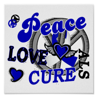 Peace Love Cure 2 ALS Poster