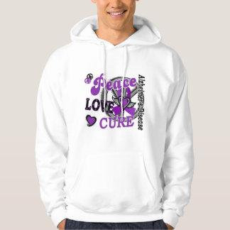 Peace Love Cure 2 Alzheimer's Disease Hooded Sweatshirt