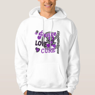 Peace Love Cure 2 Alzheimer's Disease Hoodie