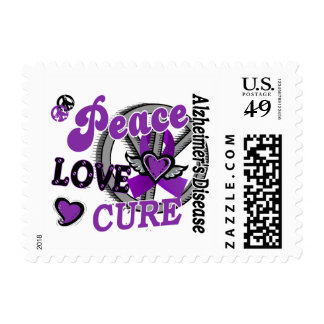 Peace Love Cure 2 Alzheimer's Disease Postage Stamp
