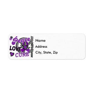 Peace Love Cure 2 Alzheimer's Disease Return Address Label