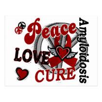 Peace Love Cure 2 Amyloidosis Postcard