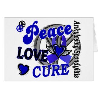 Peace Love Cure 2 Ankylosing Spondylitis Card