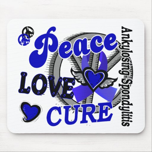 Peace Love Cure 2 Ankylosing Spondylitis Mouse Pad