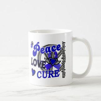 Peace Love Cure 2 Ankylosing Spondylitis Classic White Coffee Mug
