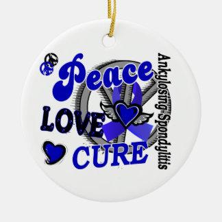 Peace Love Cure 2 Ankylosing Spondylitis Christmas Ornament