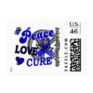 Peace Love Cure 2 Ankylosing Spondylitis Postage Stamps