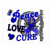 Peace Love Cure 2 Ankylosing Spondylitis Postcard