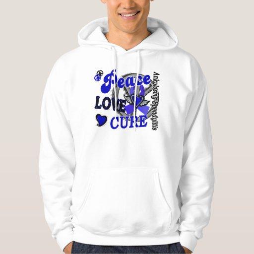 Peace Love Cure 2 Ankylosing Spondylitis Sweatshirt