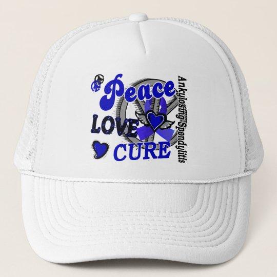 Peace Love Cure 2 Ankylosing Spondylitis Trucker Hat