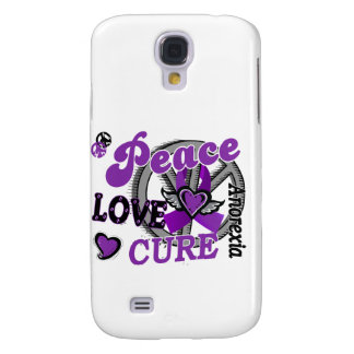Peace Love Cure 2 Anorexia Samsung Galaxy S4 Cover