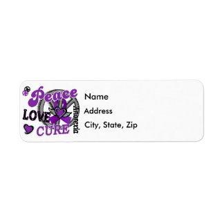Peace Love Cure 2 Anorexia Custom Return Address Labels