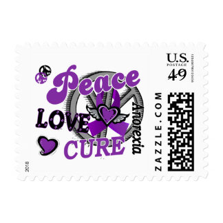 Peace Love Cure 2 Anorexia Postage Stamp