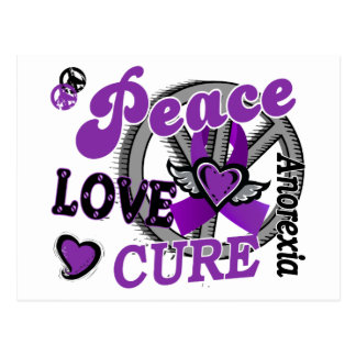 Peace Love Cure 2 Anorexia Postcard