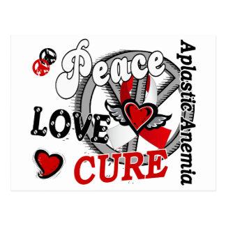 Peace Love Cure 2 Aplastic Anemia Postcard