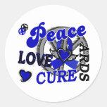 Peace Love Cure 2 ARDS Classic Round Sticker