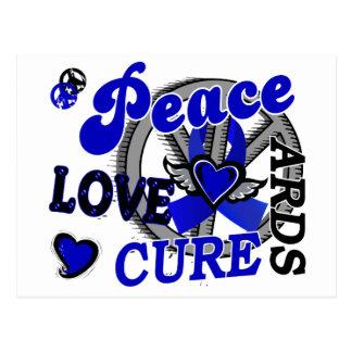 Peace Love Cure 2 ARDS Postcard