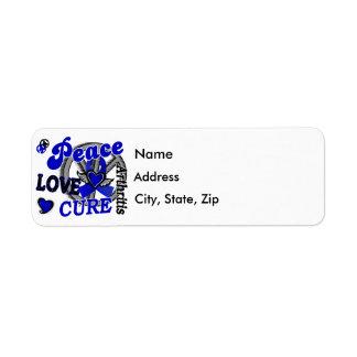Peace Love Cure 2 Arthritis Label