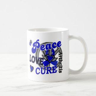 Peace Love Cure 2 Arthritis Classic White Coffee Mug