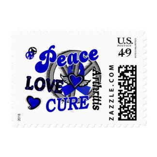 Peace Love Cure 2 Arthritis Postage Stamp