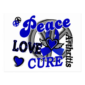 Peace Love Cure 2 Arthritis Postcard