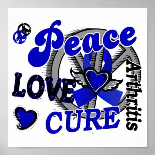 Peace Love Cure 2 Arthritis Print