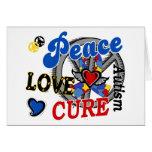 Peace Love Cure 2 Autism Cards
