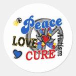 Peace Love Cure 2 Autism Sticker