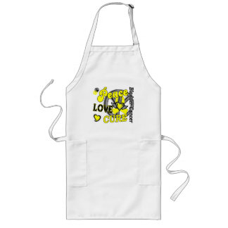 Peace Love Cure 2 Bladder Cancer Long Apron