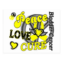 Peace Love Cure 2 Bladder Cancer Postcard