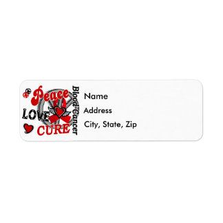 Peace Love Cure 2 Blood Cancer Label