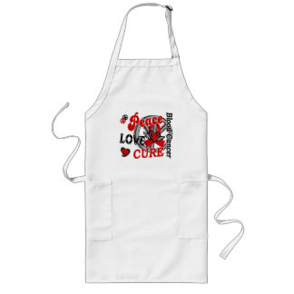 Peace Love Cure 2 Blood Cancer Long Apron