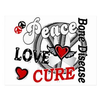 Peace Love Cure 2 Bone Disease Postcard
