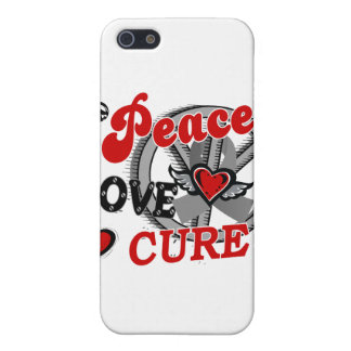 Peace Love Cure 2 Brain Tumors Covers For iPhone 5