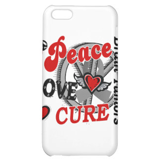 Peace Love Cure 2 Brain Tumors Cover For iPhone 5C