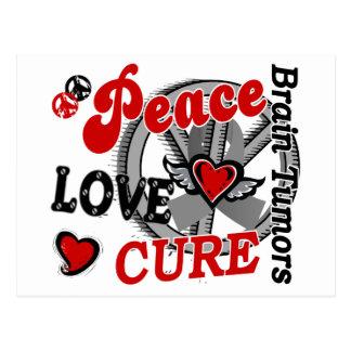 Peace Love Cure 2 Brain Tumors Postcard