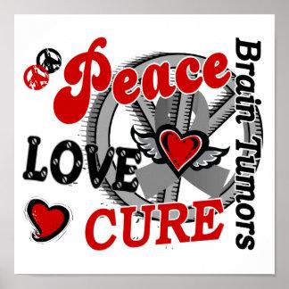 Peace Love Cure 2 Brain Tumors Poster