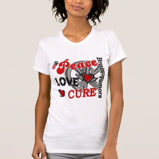 Peace Love Cure 2 Brain Tumors T-shirt