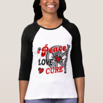 Peace Love Cure 2 Brain Tumors T-Shirt