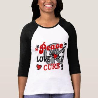 Peace Love Cure 2 Brain Tumors Tee Shirt
