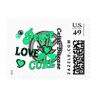 Peace Love Cure 2 Celiac Disease Stamps