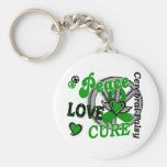 Peace Love Cure 2 Cerebral Palsy Keychain