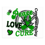 Peace Love Cure 2 Cerebral Palsy Postcard