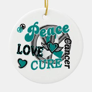 Peace Love Cure 2 Cervical Cancer 2 Christmas Ornament